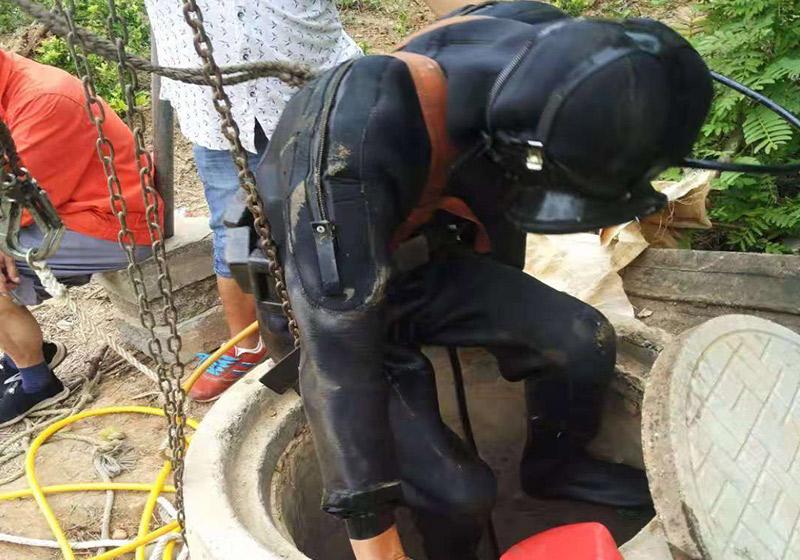 蛙人专业管道潜水封堵
